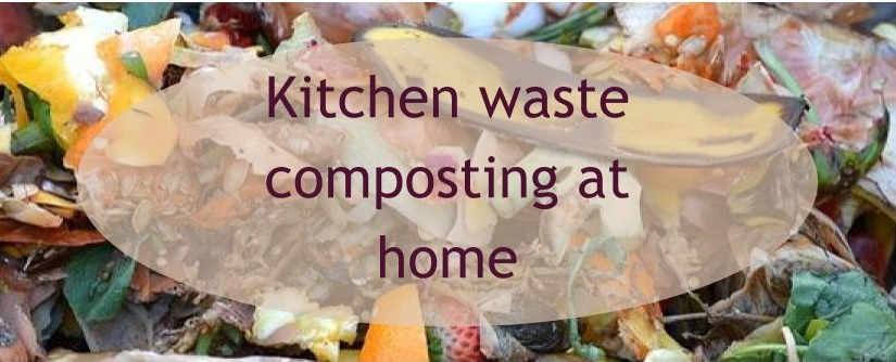 Kitchen waste composting at home